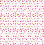 Floral pattern. Decorative silly floral and dots pattern Stock Photos