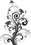 Floral pattern for design. Beautiful floral pattern for design Royalty Free Stock Image
