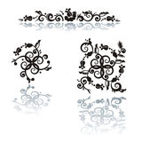 Floral pattern design elements stock illustration