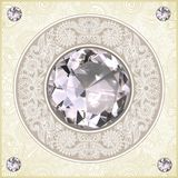 Floral pattern with diamond jewel Royalty Free Stock Photography