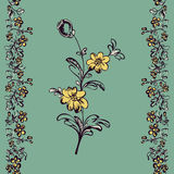 Floral pattern, drawing fancy flower Royalty Free Stock Photos