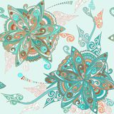 Floral pattern in eastern style Royalty Free Stock Photos