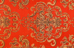 Floral pattern on the fabric Stock Photos