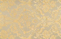 Floral pattern on the fabric Royalty Free Stock Photo
