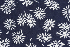 Floral pattern on fabric Royalty Free Stock Photos