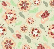 Floral pattern fabric design Stock Photo