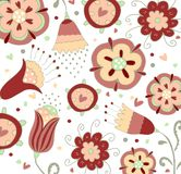 Floral pattern fabric design Royalty Free Stock Images