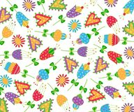 Floral pattern fabric design Stock Image