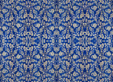 Floral pattern on the fabric, repeating fragments Stock Images