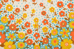Floral pattern on fabric. Stock Photos
