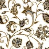 Floral pattern. Flourish oriental ethnic background. Arabic orn Stock Photos