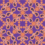 Floral  pattern. Flourish retro background. Branch with fantasti. Flourish tiled pattern. Abstract floral geometric seamless oriental background. Fantastic Stock Photography