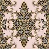 Floral pattern. Flourish seamless baroque ornament. Floral pattern Flourish tiled oriental ethnic background. Arabic ornament with fantastic flowers and leaves stock illustration