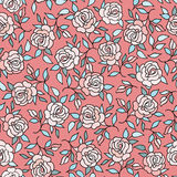 Floral pattern Flourish tiled  background. Flower rose ornament. Floral pattern  Flower rose ornamental background Flourish texture with summer flower bouquet Royalty Free Stock Photo