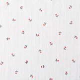 Floral Pattern, Flower Background on Cloth Royalty Free Stock Images