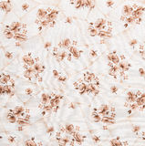 Floral Pattern, Flower Background on Cloth Royalty Free Stock Photos