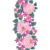 Floral pattern. Flower border background. Floral tile s Royalty Free Stock Photo