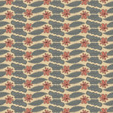 Floral pattern with flower and leaves for gift wrapping Royalty Free Stock Image