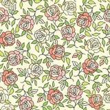 Floral pattern  Flower rose ornamental background Flourish ornament Stock Images