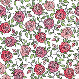 Floral pattern  Flower rose ornamental background Flourish textu. Re with summer flower bouquet. Gentle floral tiled wallpaper Royalty Free Stock Photo