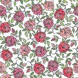 Floral pattern  Flower rose ornamental background Flourish textu Royalty Free Stock Photo