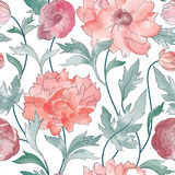 Floral pattern  Flower rose ornamental background Flourish texture Royalty Free Stock Images
