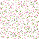 Floral  pattern. Flower seamless background. Flourish ornamental Royalty Free Stock Photography