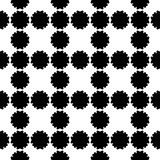 Floral pattern. Flower silhouettes on white backdrop. Flower pattern. Vector seamless pattern, simple floral geometric texture. Black flower silhouettes on Royalty Free Stock Photo