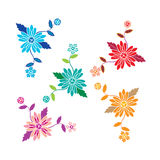 Floral pattern with flowers and leaves vector Stock Images