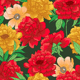 Floral pattern with flowers. Floral vector seamless  pattern with flowers and leaves Stock Photography
