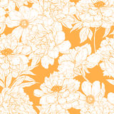 Floral pattern with flowers. Floral vector seamless  pattern with flowers and leaves Royalty Free Stock Photos