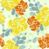 Floral pattern in folkloric style and bright colors Royalty Free Stock Photography