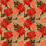 Floral pattern in folkloric style and bright colors Royalty Free Stock Images