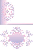 Floral pattern frame Stock Images