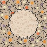 Floral pattern with frame in vector. Floral decorative frame and also seamless pattern Stock Photos
