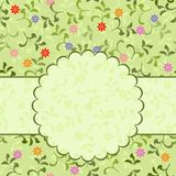Floral pattern with frame in vector. Illustration of floral pattern around frame on abstract background Royalty Free Stock Photo