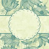 Floral pattern with a frame in vector. Illustration of floral pattern around frame on abstract background Royalty Free Stock Photos