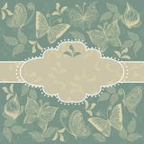 Floral pattern with frame in vector Stock Photography