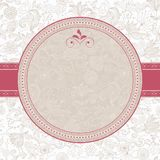 Floral pattern with frame in vector Royalty Free Stock Photo