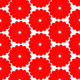 Floral pattern fresh white and red vector backgrou Stock Photos