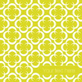 Floral pattern fresh white and yellow backg Stock Photos