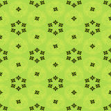 Floral pattern with geometric elements. On a light green background vector illustration