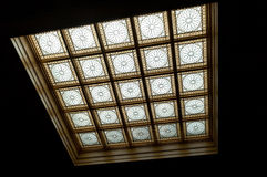 Floral Pattern Glass Skylight stock images