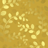 Floral pattern with gradient - gold background Stock Photo