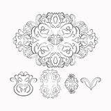 Floral pattern graphic black, white. vector illustration Royalty Free Stock Photography