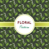 Floral pattern. With green branch and flowers Royalty Free Illustration
