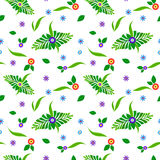 Floral pattern with green leaves royalty free stock images