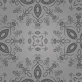 Floral pattern on a grey background Royalty Free Stock Photography