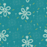 Floral pattern hand drawn Royalty Free Stock Image
