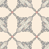 Floral pattern with hearts Royalty Free Stock Photos